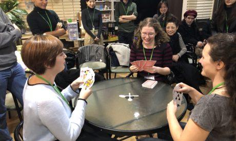 ジャーニーズ月1回のラウンジパーティー 福岡の博多で国際交流 留学前に英会話レッスンを福岡で